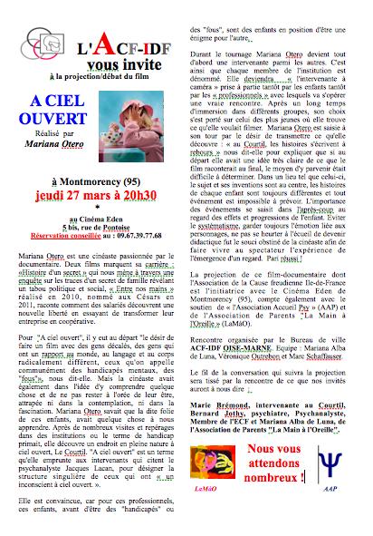Argument A CIEL OUVERT-Montmo