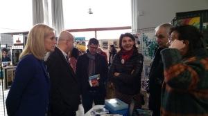 Avec Ségolène Neuville, Secrétaire d'Etat chargée des personnes handicapées