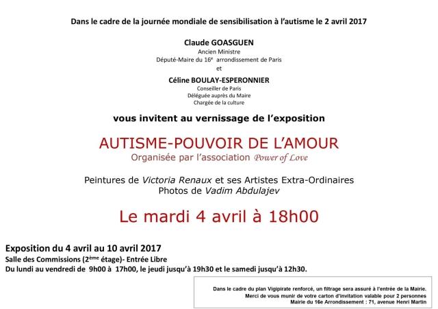 Invitation Mairie du 16eme