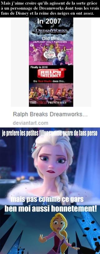 Elsa n'apprecie pas du tout ce fan
